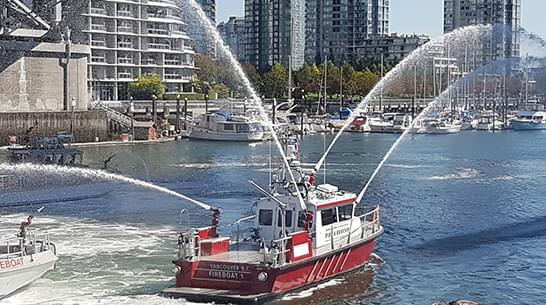 Vancouver Fire & Rescue Boats Water Cannons